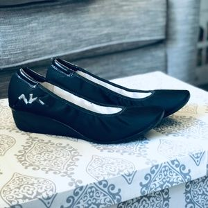 Anne Klein Sport | Black Fabric Wedges Rounded Toe
